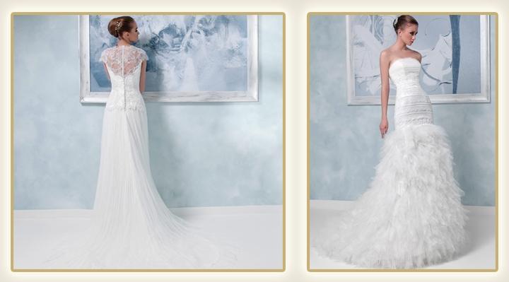 Свадебные платья с оттенком фото