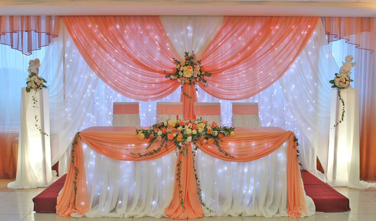 оформление тканями / Джем, свадебный декор / Оформление свадьбы
