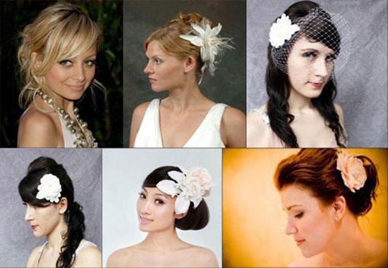 Модные прически невесты 2014