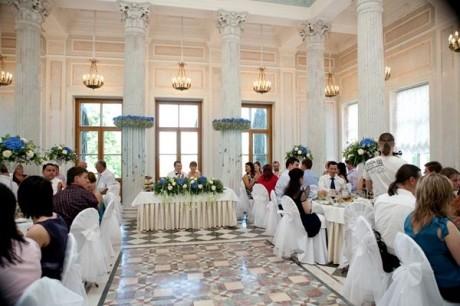 Свадьба гости за столом