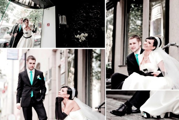 Жених с галстуком встиле тиффани
