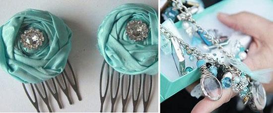 Ожерелье под платье бирюзово белое