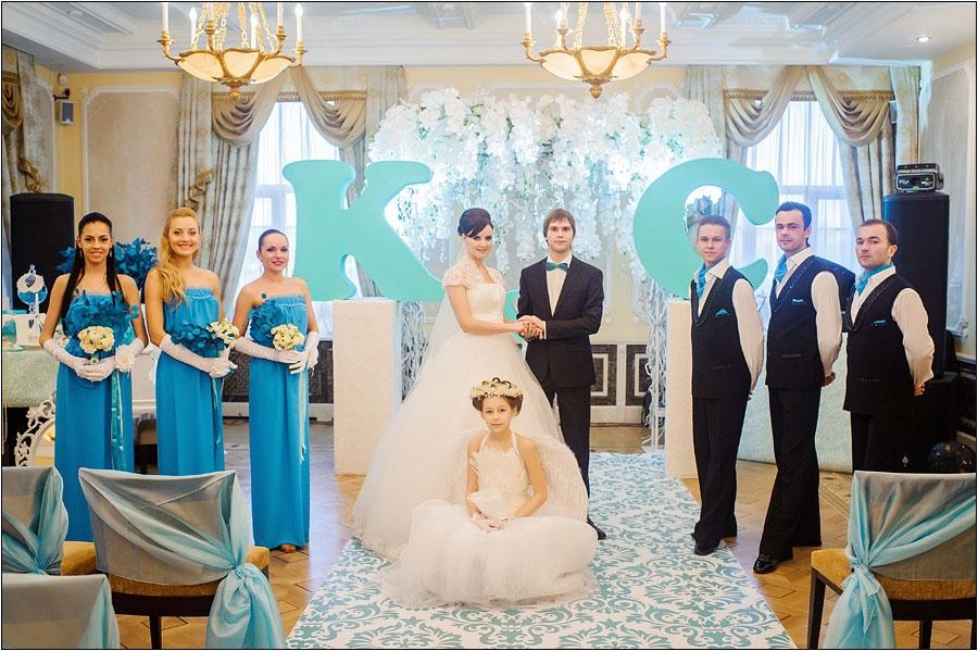 Шикарная свадьба в стиле тиффани
