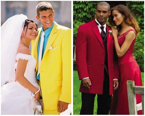 Жених в красном пиджаке