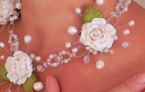 Чем украсить шею невесты