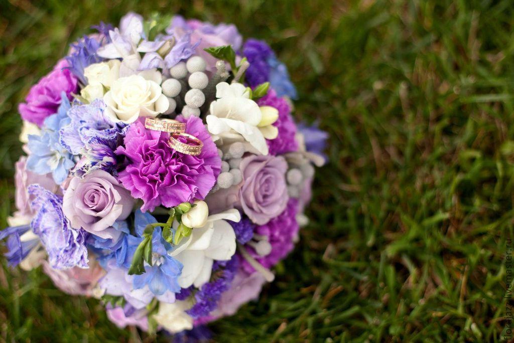 Фрезія фіолетова букет