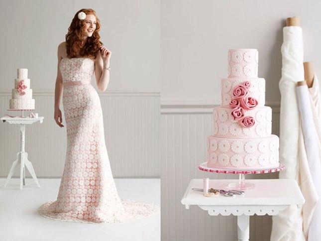 Свадебный торт без мастики с фруктами