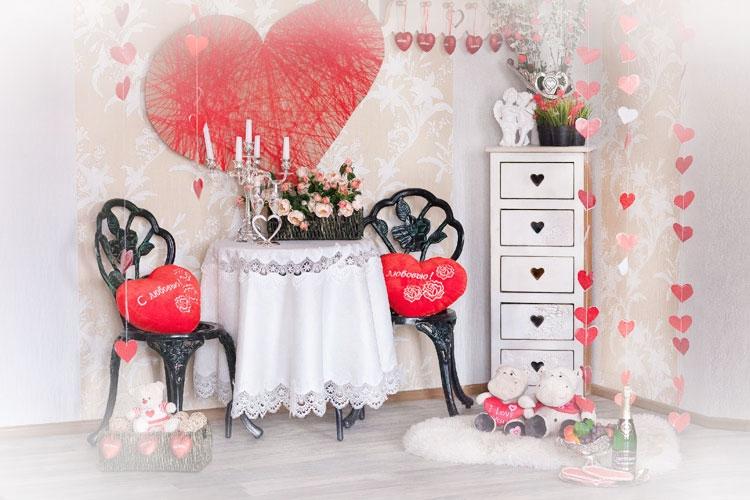 Оформлення залу на день СВ Валентина