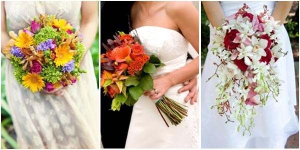 Подобрать цветы к платью