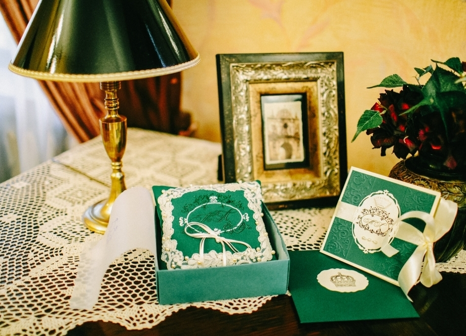 Венчание в изумрудном цвете фото