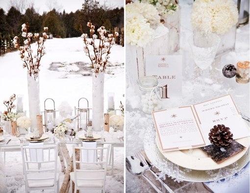 Свадьба в зимнем стиле фото