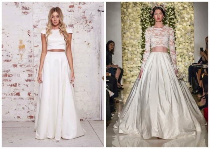Модели юбок из свадебных в