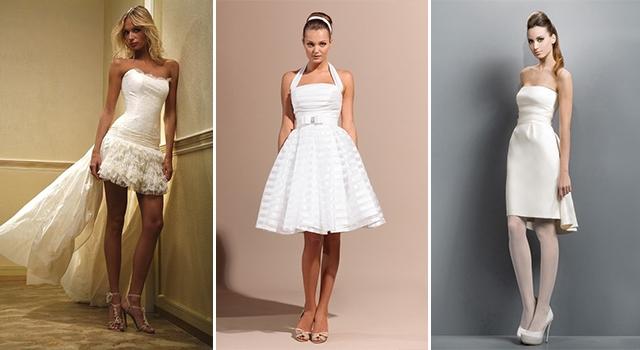 Белое короткое платье на свадьбу фото