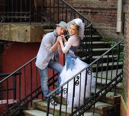 Свадьба в джинсовом стиле
