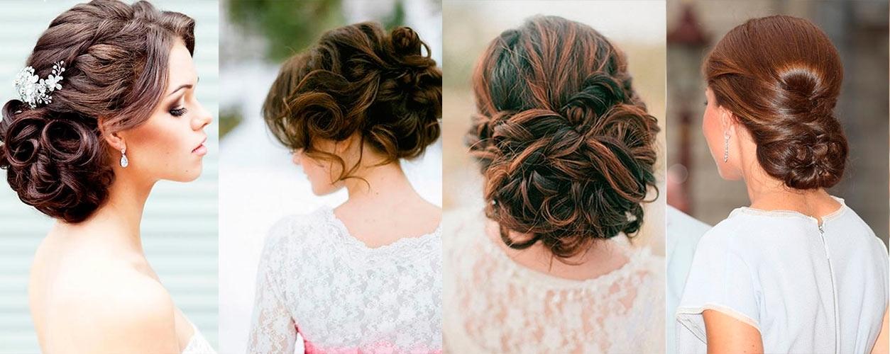 прически на свадьбу на средьнии волосы