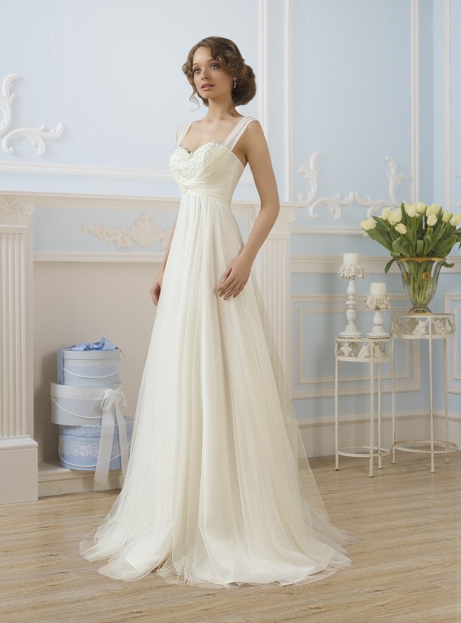 платье не пышное свадебное фото