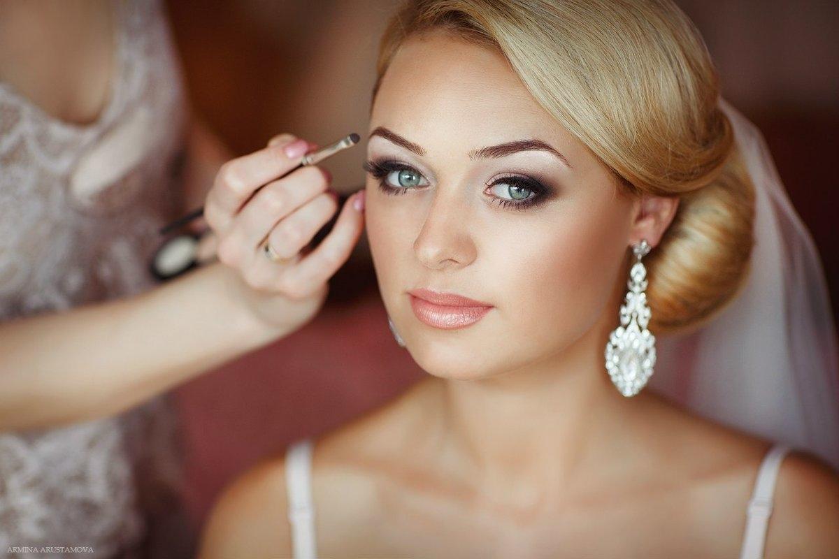 Свадебный макияж к платью с березовым