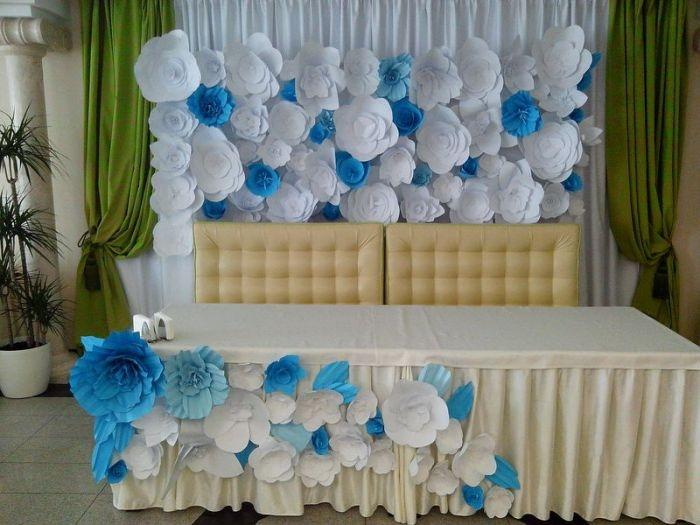 Оформление зала бумажными цветами своими руками 903