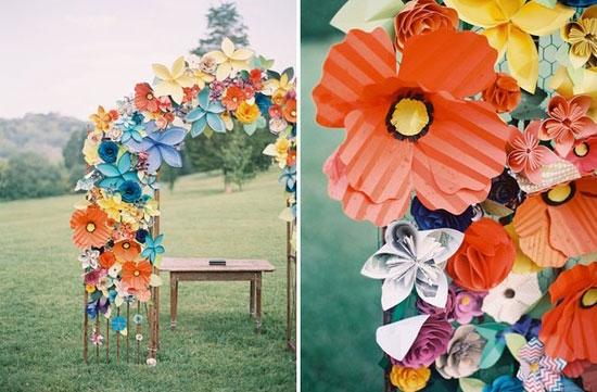 Бумажный декор для свадьбы фото