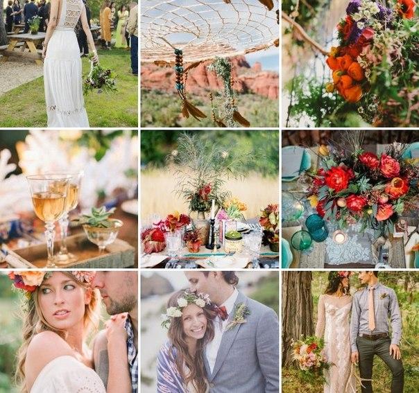 Богемный стиль невесты