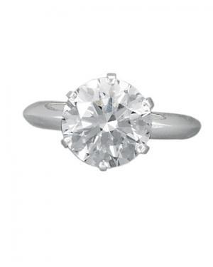 Кольцо с бриллиантом прямоугольной формы