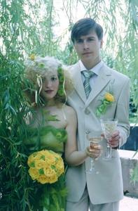 Свадебный букет из Кустовой гвоздики