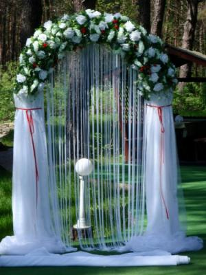 Свадебные арки своими руками фото