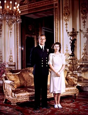 Королева Елизавета и муж свадьба