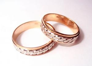 Обручальные кольца граненые