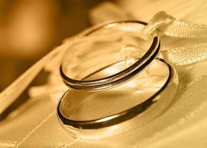 Обручальные кольца і регистрация в загсе