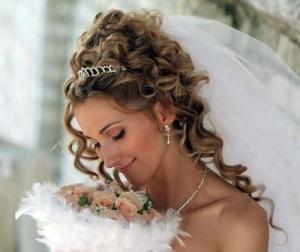 Платье русалка прическа