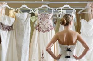 Длинные свадебные приталенные платья