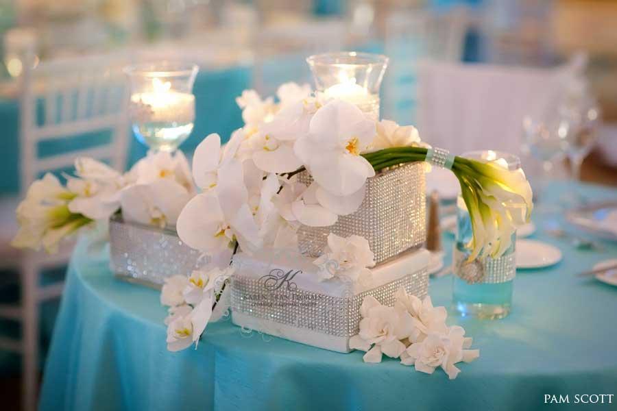 Свадебные голубые туфли