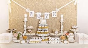 Оформление сладкой зоны на свадьбе