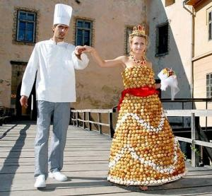 Тематический свадебный наряд невесты
