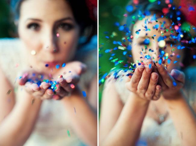 Фотосъемка с конфетти