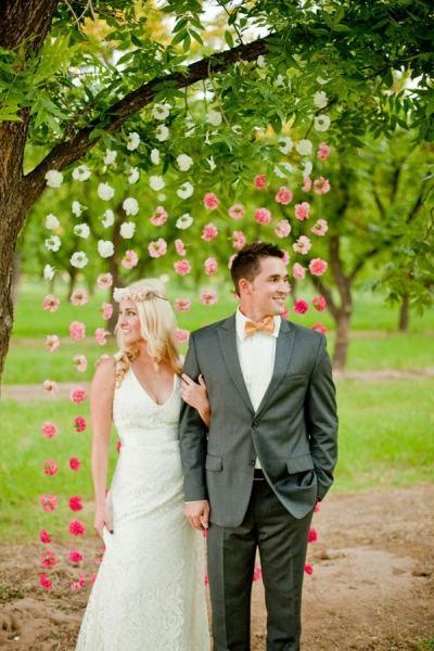 Свадебные гирлянды из цветов