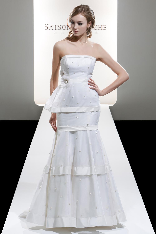 Свадебное платье с баской фото