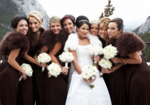 Венчание зимой что надеть