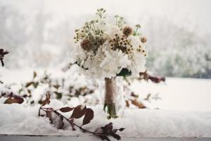 Свадебный зимний букет в нижнем Новгороде