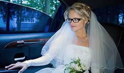 Стильный образ невесты в очках