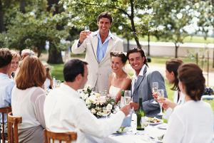 Коллективное поздравление на свадьбу