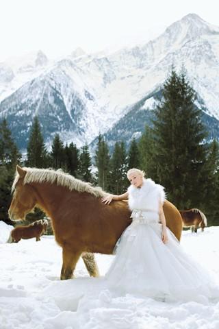 Фотосессия невеста зимой