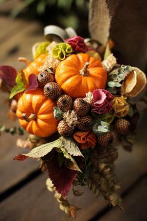 Осенние букеты на венчание фото