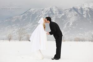 Свадебные фото зимой