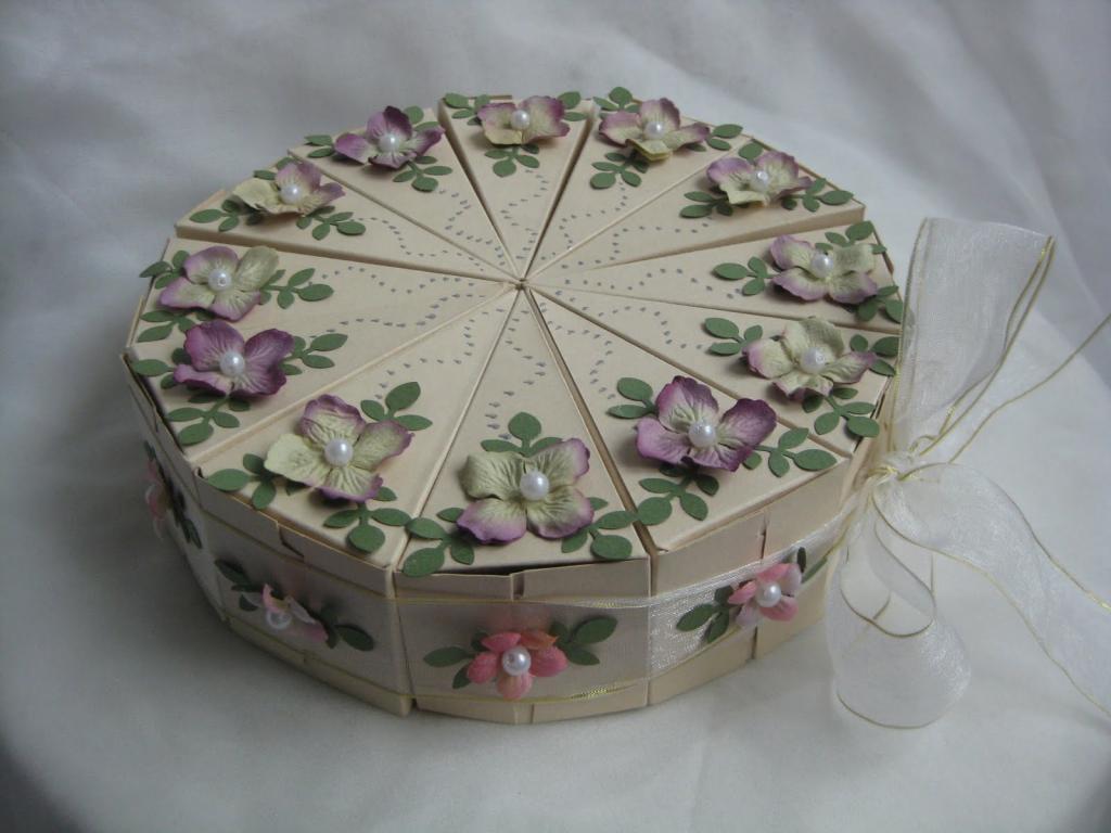 Шаблон бонбоньерки тортик