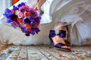 Цветная обувь на свадьбу