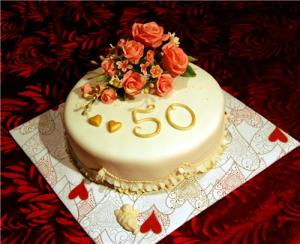 Рецепт торта на золотую свадьбу