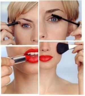 Перламутровые тени макияж