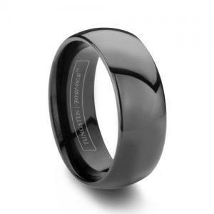 Обручальное кольцо из черного золота